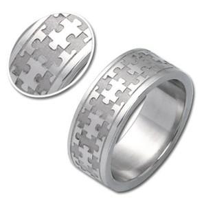 Ocelový prsten Puzzle