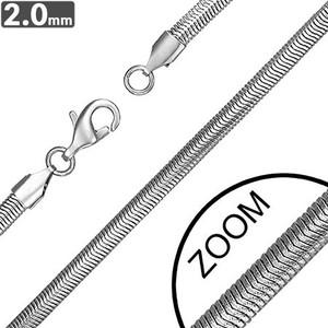 Ocelový řetízek - Plochý had 2mm