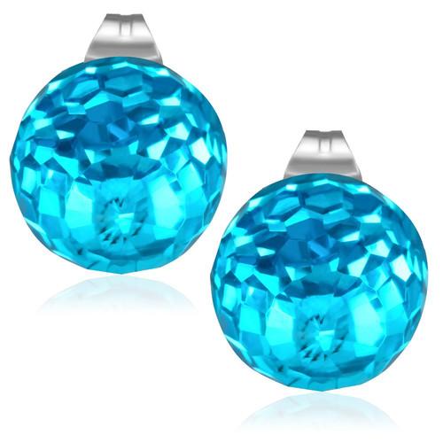 8mm – Světle modrá broušená skleněná kulička
