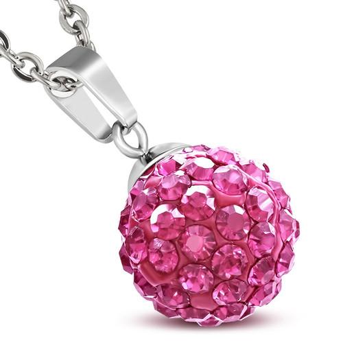 12mm – Růžové kuličky s kamínky