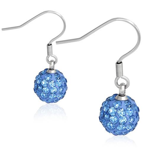 10mm – Modrá kulička s kamínky, afroháček