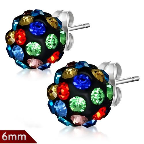 6mm – Kulička s kamínky vícebarevná