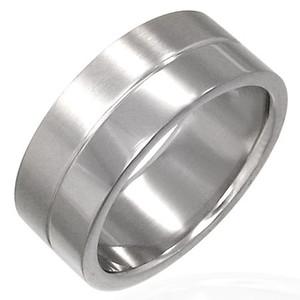 Ocelový prsten - XRT017BA