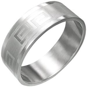 Ocelový prsten - RCH005BA