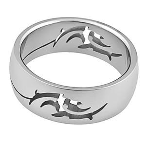 Ocelový prsten s motivem