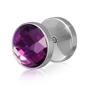 Piercing - broušené fialové sklo