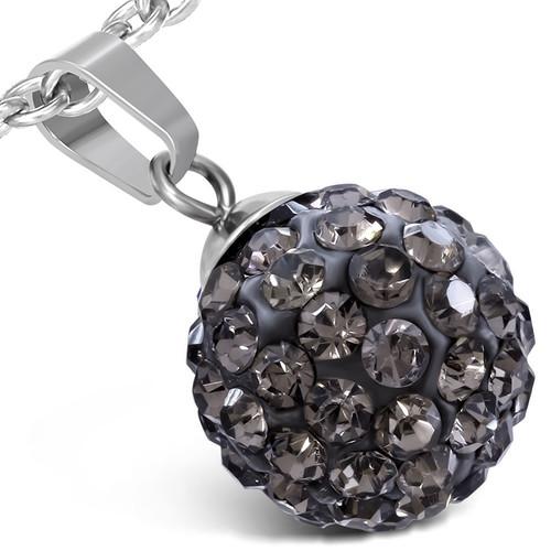 Disco ball ocelový přívěsek - WPA175BA