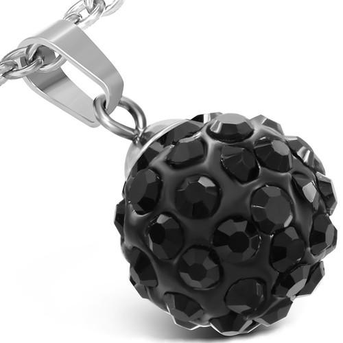 Disco ball ocelový přívěsek - WPA176BA