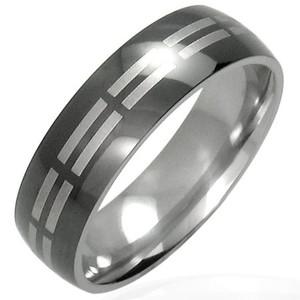 Ocelový prsten - URA005BA