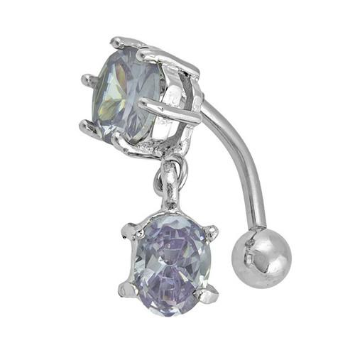Ocelový piercing, Barva zirkonu: Fialová