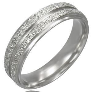 Ocelový prsten - LRC072BA - Velikost 56 (7.5)