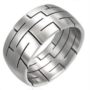 Ocelový prsten - RHB017BA