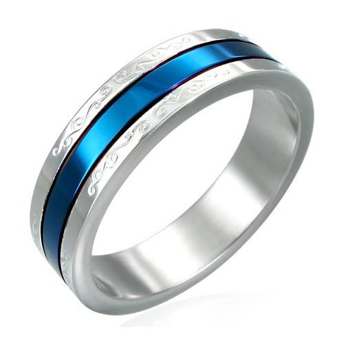 Ocelový prsten - ERN022BA - Velikost 55 (7)