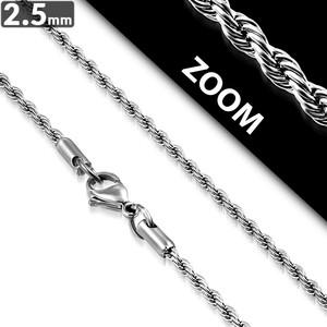 Ocelový řetízek - Pletené 2.5mm