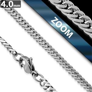 Ocelový řetízek - Rombo 4mm