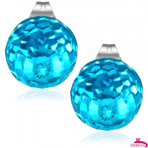 10mm – Světle modrá broušená skleněná kulička