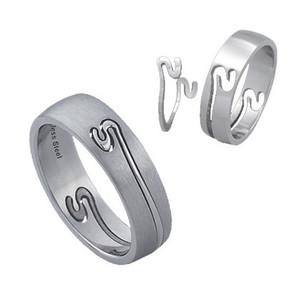 Ocelový prsten - dvě části, rozebiratelný