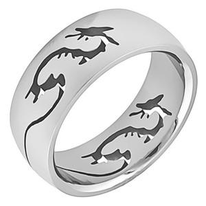 Ocelový prsten drak