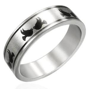 Ocelový prsten - PRB092BA