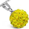 Disco ball ocelový přívěsek - WPA156BA